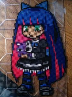 Stocking  (Panty  Stocking) Perler beads by Khoriana on deviantART