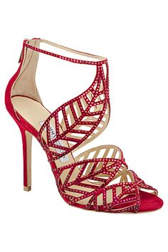 Jimmy Choo Red Crystal Pave Sandal   You can see the Rest of the Outfit and my Comments on this board.  -  Gabrielle
