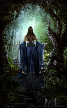 The Enchanted Forest Using this image for story I'm writing Fantasy World, Fantasy Art, Art Magique, Elfa, Mythical Creatures, Faeries, Mystic, Fairy Tales, Medieval Art