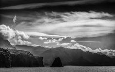 Gran Canaria coast in black and white. Sardina, Galdar.