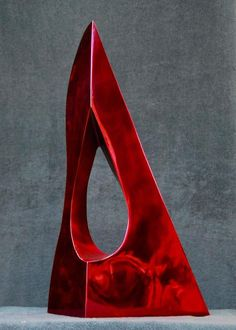 Ultra Red, Italian High Polished Stainless Steel | From a unique collection of abstract sculptures at https://www.1stdibs.com/art/sculptures/abstract-sculptures/