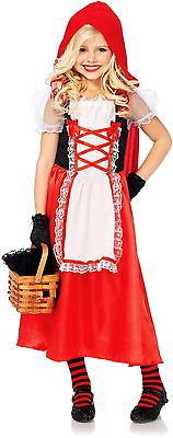 NEW Little Girl's Red Riding Hood Dress Outfit Kids Children's Halloween Costume