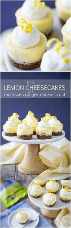 This is a sponsored post, written by me, and created in partnership with Among Friends baking mixes. #lemoncake #cheesecake #minilemoncake #cookiecrust