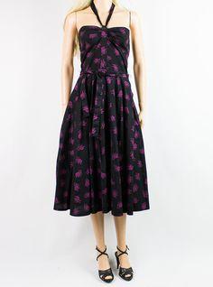 1970s Guy Laroche Full Skirt Dress