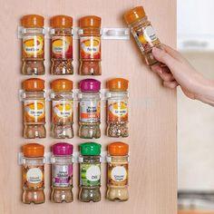 Spice Rack Spice Wall Storage Plastic Kitchen Organizer Rack 12 Cabinet Door Hooks 3PCS/SET Kitchen Accessories S002. | wonderfestgifts.com