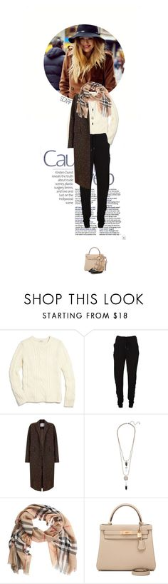 """Winter Scarf Style"" by doris-knezevic ❤ liked on Polyvore featuring Madewell, Chalayan, The 2nd Skin Co., Burberry, Hermès and Valentino"