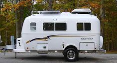 Interior and exterior Legacy Elite travel trailer photo gallery. Scamp Trailer, Small Travel Trailers, Small Campers, Travel Trailer Rental, Fiberglass Camper, Small Caravans, Lightweight Travel Trailers, Rv Manufacturers, Vintage Trailers