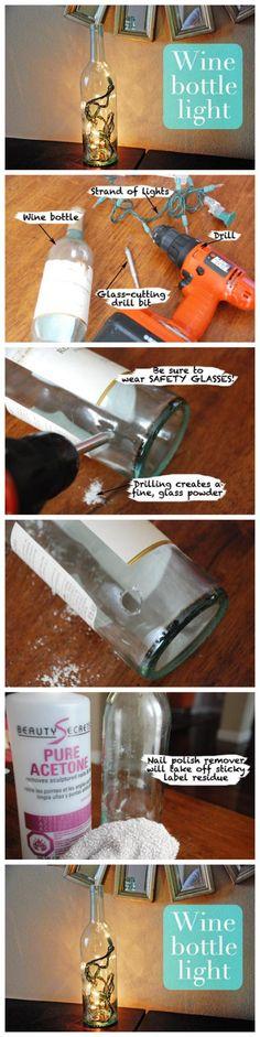 How to make Wine bottle light