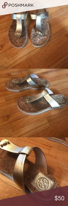 TOY BURCH SANDALS. Size 7. Barely used. The sandals are in great condition. They are comfortable and stylish! Tory Burch Shoes Sandals