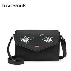 556b31580c8ce Barato LOVEVOOK ombro das mulheres crossbody bag feminino bordados de  flores bolsa para mulheres messenger bags