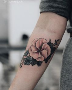 Hibiscus Tattoo by Olga Nekrasova