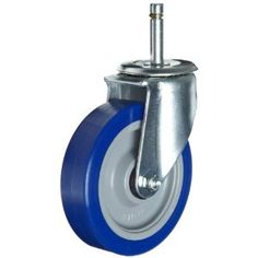 """ER Wagner 3F09 5"""" Diameter Blue Polyurethane Tread/Gray Polyolefin Hub Wheel Swivel Stem Caster with Dust Cover, 1/2""""-13 Diameter X 3/4"""" Length Threaded Stem, 300 lbs Capacity Range. E.R. Wagner Casters & Wheels manufactures the highest quality products for a broad range of applications and markets, including industrial, commercial, institutional, food service, health care, and other specialized areas.  We do more than manufacture quality casters, wheels, and accessories; we develop ways to mak"""