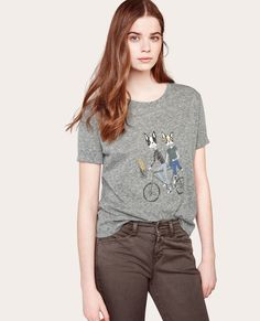 Tee-shirt imprimé Léon GRIS CHINE - ALONI | Comptoir des Cotonniers