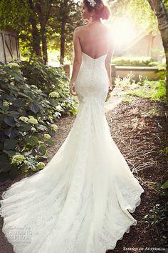 Top 100 Most Popular #Wedding Dressses #bridal essense of australia wedding dress 2015 bridal strapless sweetheart neckline trumpet gown cathedral train d1788