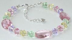 Another new project added to the Idea Page. Check out this pretty pastel bracelet and other projects that feature the Swarovski 5050 faceted oval beads. Visit the Swarovski Idea Page for details and materials lists - Project #125