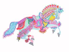 Whimsical Horse. Print from original painting by Keira Lagunas