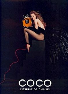 Coco Chanel ad with Vanessa Paradis. My fragrance of choice, along with Fracas and Kai, depending on the season and my mood.