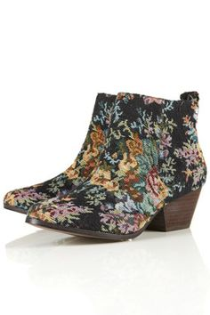 Bottes western style tapisserie ADIOS