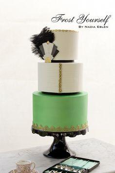 Great Gatsby/Art Deco inspired cake