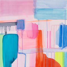 Align by Arite Kannavos - Abstract work, originally painted on canvas, exploring imagined landscapes. Acrylic Painting Inspiration, Bright Art, Modern Impressionism, Abstract Painters, Abstract Art, Fun Illustration, Selling Art, A Boutique, Colorful Interiors