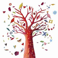 Djeco - wall stickers - Poetic tree www. Kitsch, Nursery Stickers, Magical Tree, Plan Toys, Giant Tree, Designers Guild, Tree Wall, Nursery Themes, Toys