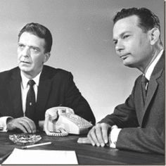 """Tonight 10-29 in the year 1956 - John Cameron Swayze and The Camel News Caravan were replaced by Chet Huntley and David Brinkley on NBC-TV. The Huntley-Brinkley Report clicked so well that the respected newsmen reported nightly until July of 1970. """"Good night Chet. Good night David. And good night from NBC News."""""""