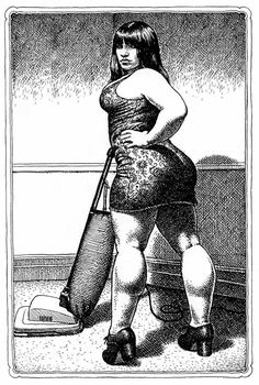 Robert Crumb (i love the ferocity of the face and physicality in this drawing. Its in your face)