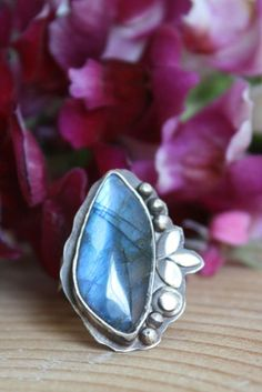 Another moonlight serenade ring, labradorite sterling silver jewelry
