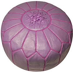 @Overstock - Hand-stitched by skilled artisans in Morocco, this lavender leather pouf ottoman has a worldly appeal that teenagers will love. The supple goat-skin leather will feel soft from day one, and it works great as an extra seat if unexpected guests arrive. http://www.overstock.com/Worldstock-Fair-Trade/Leather-Lavender-Pouf-Ottoman-Morocco/5710571/product.html?CID=214117 $204.99