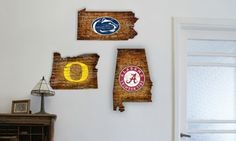 Groupon - NCAA College State Signs. Groupon deal price: $39.99