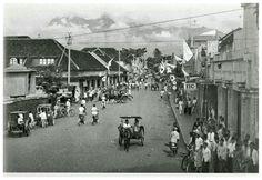 Petjinanstraat Malang pada masa pendudukan Jepang, Maret 1942.