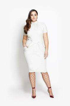 Plus Size Dress - Dove Gray