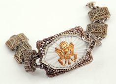 Vintage Camphor Glass Bracelet by TheButterflyBoxdeitz on Etsy, $100.00