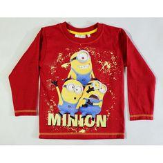 ea23c3e527 Minion hosszú ujjú póló piros színben. Mesefigurás gyerekruhák hatalmas  választékban. Gyors szállítás.