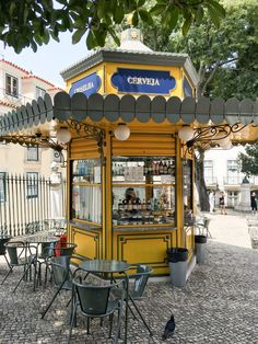 After spending the summer in Portugal, we've created the Ultimate Lisbon Bucket List. Find the best things to do in Lisbon, conveniently organized by neighborhood. Kiosk Design, Signage Design, Design Design, Graphic Design, Portugal Vacation, Portugal Travel, Portugal Trip, Stuff To Do, Things To Do