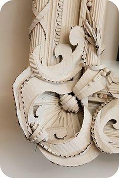 corrugated cardboard frame (herve pierre « the selby) Cardboard Sculpture, Cardboard Paper, Cardboard Furniture, Diy Paper, Paper Art, Paper Crafts, Paper Clay, Cardboard Relief, Cardboard Picture Frames