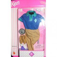 1996 Ken Boyfriend of Barbie Fashions - Golf 16238 - Putter Club Ball and Cup - Barbie Mattel Ken Barbie Doll, Barbie 1990, Barbie And Ken, Barbie Clothes, Friends Fashion, Golf Fashion, Barbie Wardrobe, Barbie Friends, Childhood