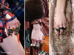 Fall/ Winter 2016-2017 Accessory, Jewelry Trends: Piled On Rings