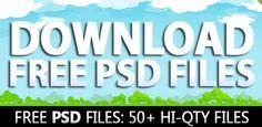 Free PSD Files: Download 50+ Hi-Qty PSD Files