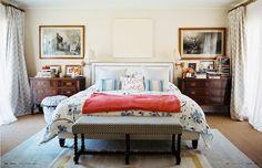 Lulu de Kwiatkowski's bedroom. Via Lonny magazine.