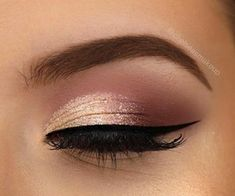 Wedding Eye Makeup, Wedding Makeup For Brown Eyes, Makeup Looks For Brown Eyes, Gold Eye Makeup, Day Makeup, Bride Makeup, Makeup Lipstick, Makeup Ideas, Night Makeup