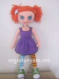 "Doll about 55cm  - Free Amigurumi Pattern   PDF Version ( click ""download"" or ""free Ravelry Download"")  here: http://www.ravelry.com/patterns/library/doll-pattern-2"