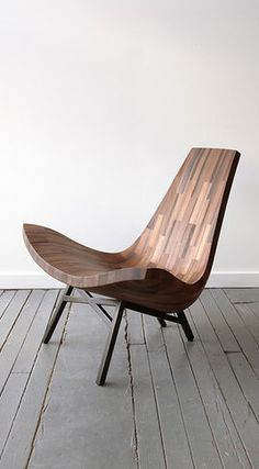 """Wooden """"lounge"""" chair <--- Do you have the info for this chair? I really like the simple design of it. I think it would work well with the elevator lobby"""