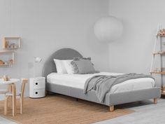 King Single Bed, Single Bedroom, Grey Single Bed, Kids Bed Design, Spare Bed, Spare Room, Kids Table And Chairs, Childrens Beds, House Beds