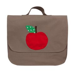 Cartable Petite pomme - Taupe