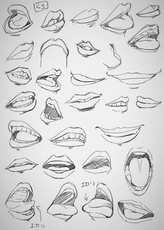Learn To Draw Eyes - Drawing On Demand - Manga, Anime, Mouths, 30 Designs, To Improve Your Drawing. Manga Drawing Tutorials, Drawing Techniques, Drawing Tips, Drawing Reference, Art Tutorials, Design Reference, Character Reference, Drawing Drawing, Drawing Faces
