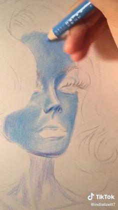 Art Drawings Beautiful, Art Drawings Sketches Simple, Pencil Art Drawings, Realistic Drawings, Color Pencil Art, Art Sketchbook, Art Tutorials, Cute Art, Painting & Drawing