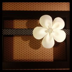 Black and White Polka Dot Elastic Heaband with by BellesBows2011, $7.50