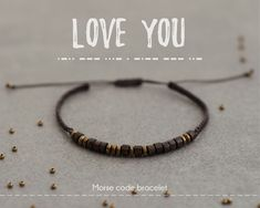 Morse Code Bracelet Love You Personalized Mens Bracelet Anniversary gift for men boyfriend husband Unique gifts Bracelet homme Best Gifts For Him, Unique Gifts For Men, Best Friend Gifts, Presents For Boyfriend, Boyfriend Gifts, Mens Bday Gifts, Bf Gifts, Joke Gifts, Birthday Gifts