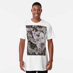Skull Design, My Design, Floral Skull, White Springs, Spring Blossom, Hand Illustration, My T Shirt, Large Prints, Tshirt Colors